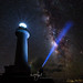 Milky Way over Uganzaki Lighthouse by Dive Girl DSLR