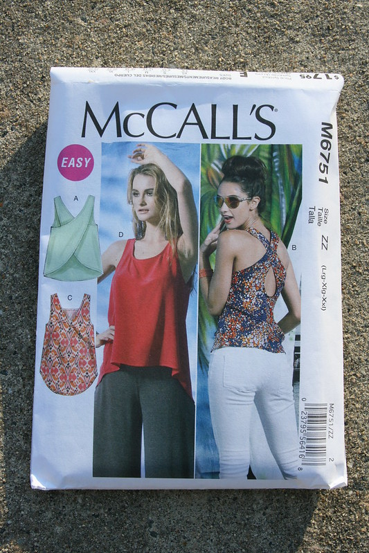 McCall's 6751 Cross-Back Top in Linen