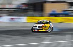 Drift car brand BMW overcome turn track