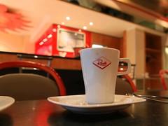 Kaffeepause wegen Regen.