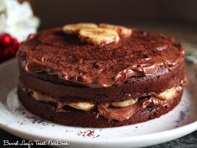 香蕉摩卡巧克力蛋糕 banana-mocha-chocolate-cake-mocha-frosting (5)