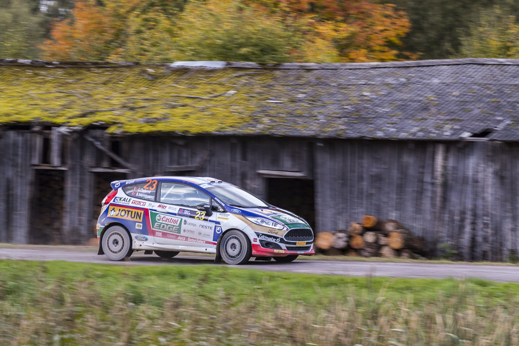 23 Ozdemir Umit Can and Memisyazici Batuhan, Castrol Ford Team Turkiye, Ford Fiesta R2T action during the 2017 European Rally Championship ERC Liepaja rally,  from october 6 to 8, at Liepaja, Lettonie - Photo Gregory Lenormand / DPPI