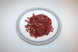 05 - Zutat gewürfelter Speck / Ingredient diced bacon