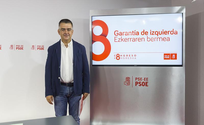 Miguel Ángel Morales presenta el 8º Congreso del PSE-EE