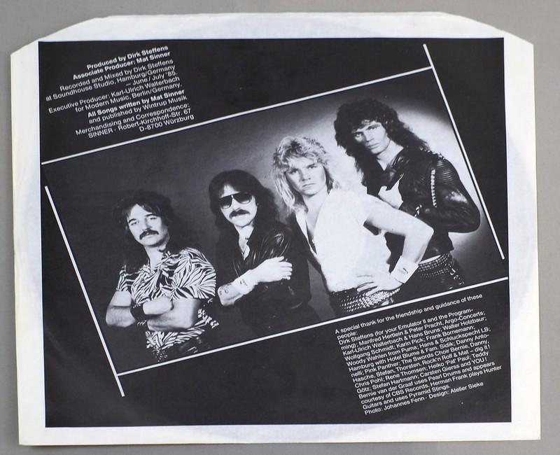 """SINNER TOUCH OF SIN Silver Label 12"""" LP ALBUM VINYL"""
