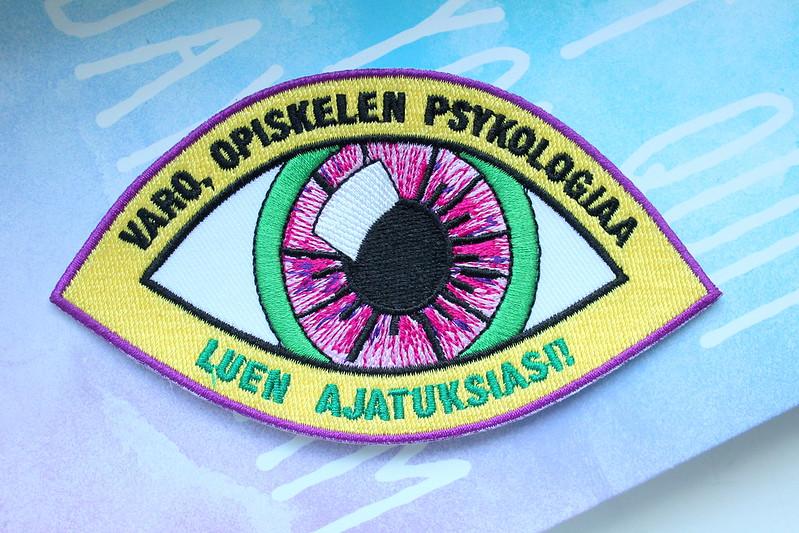Psykologia haalarimerkki stimulus