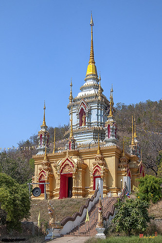 Wat Numtok Mae Klang Phra Chedi (DTHCM1535) วัดน้ำตกแน่กลาง พระเจดีย์