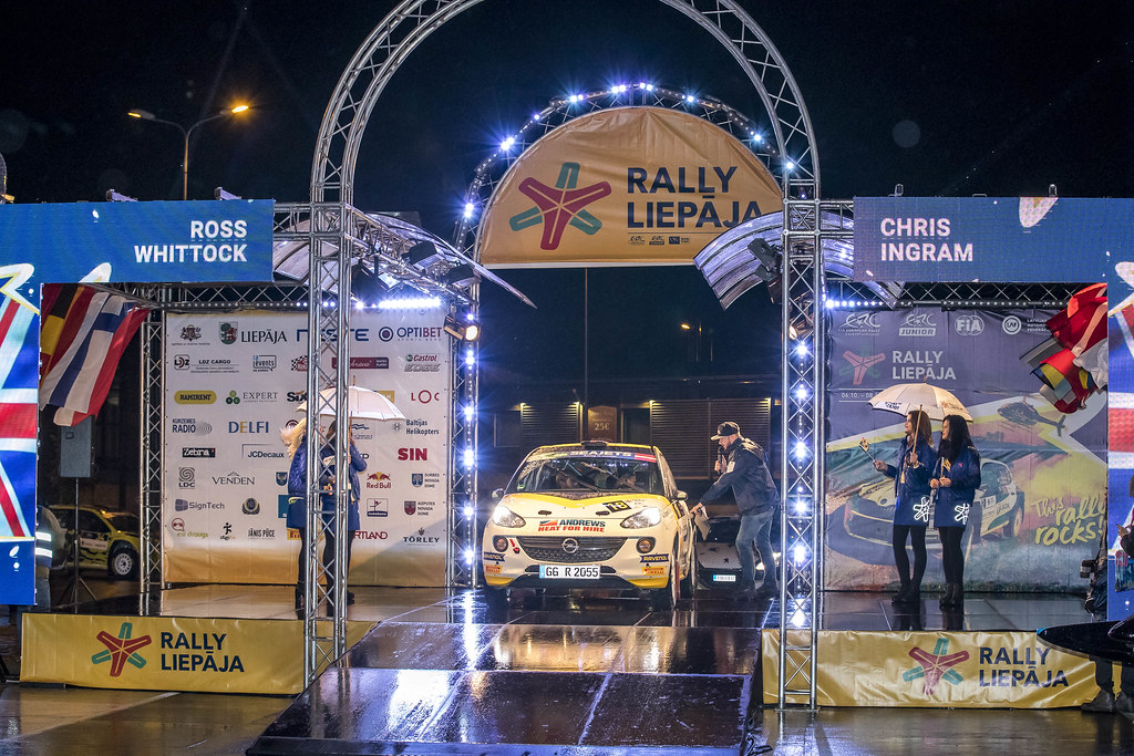 18 Ingram Chrisand Whittock Ross, Opel Rallye Junior Team, Opel Adam R2 ERC Junior U27 action during the 2017 European Rally Championship ERC Liepaja rally,  from october 6 to 8, at Liepaja, Lettonie - Photo Gregory Lenormand / DPPI