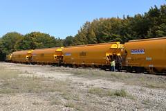 Formation du train avec les wagons chargés