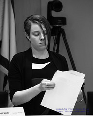 State Senate Law & Justice Committee Aide Carly Johnson in Black & White