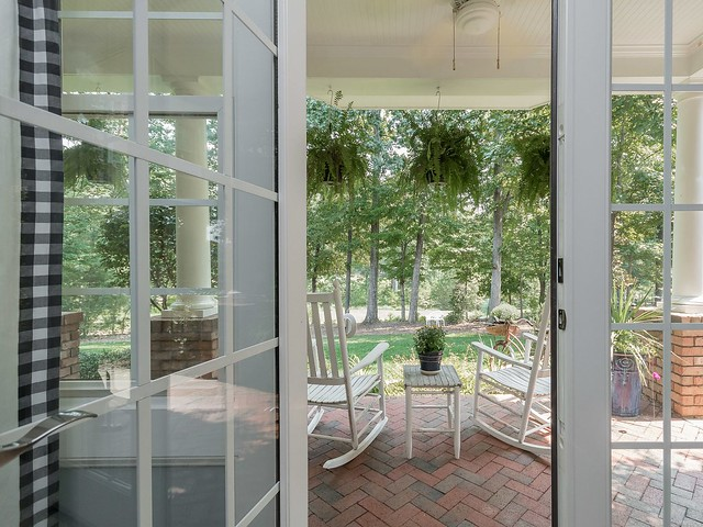 Guest Room French Doors-Housepitality Designs