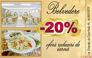 """Ofertă fierbinte de la Restaurantul """"Belvedere""""!"""