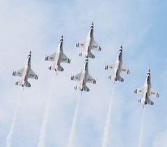U.S. Air Force Thunderbirds Inverted 6-Plane Formation