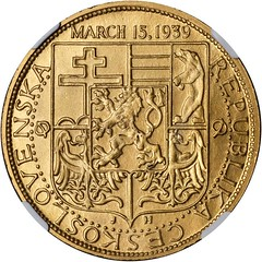 1939 Czechoslovakia Must Be Free Medal reverse
