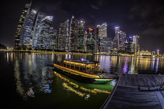 Singapore..nights..boat.tour, Nikon D810, Sigma 15mm F2.8 EX Diagonal Fisheye