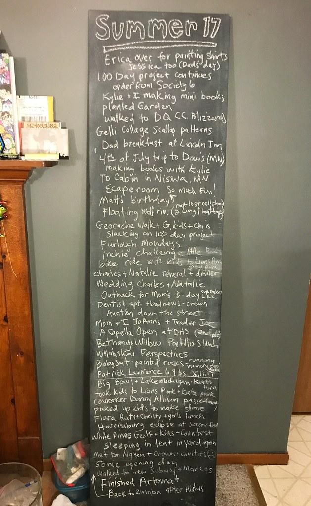 Summer 2017 chalkboard