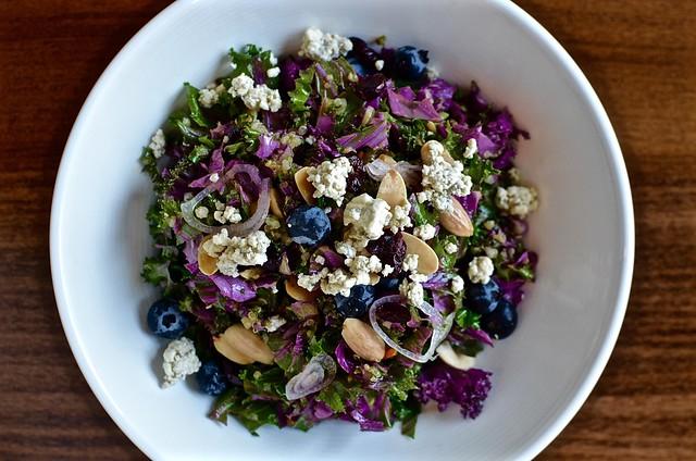 COD salad overhead