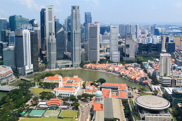 View on the financial district  of Singapore