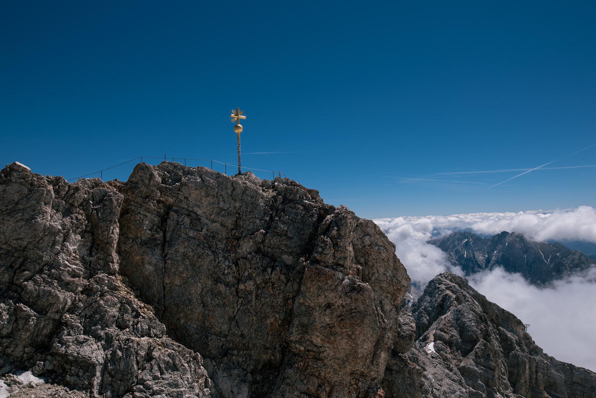 Summit of german alps