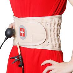 JMRON CR-801 Air Traction Back Brace Waist Belt Lumbar Support Pain Release Massager (1054356) #Banggood