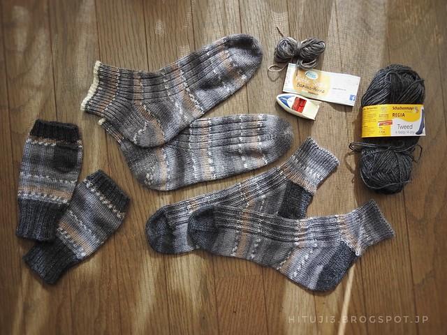 オット靴下8号と9号、そして指なし手袋