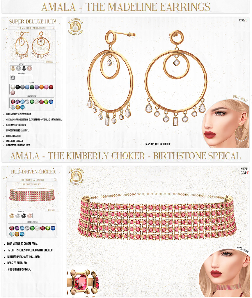 ✨ Amala - The Madeline Earrings & The Kimberly Choker for FLF ✨ - TeleportHub.com Live!
