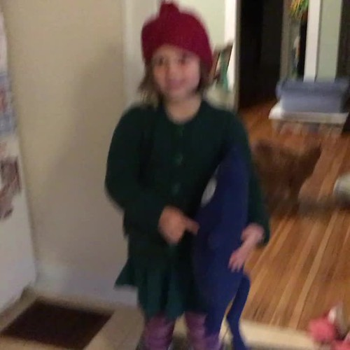 Singing the Peg+Cat theme song. I can't get over the cuteness!