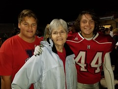 Annette with two of the grandsons.