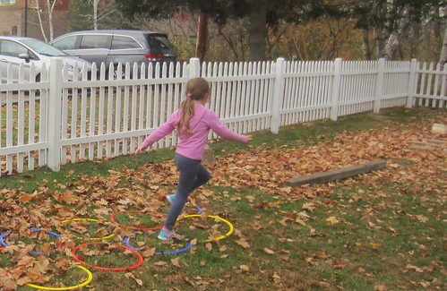 running through the hoops