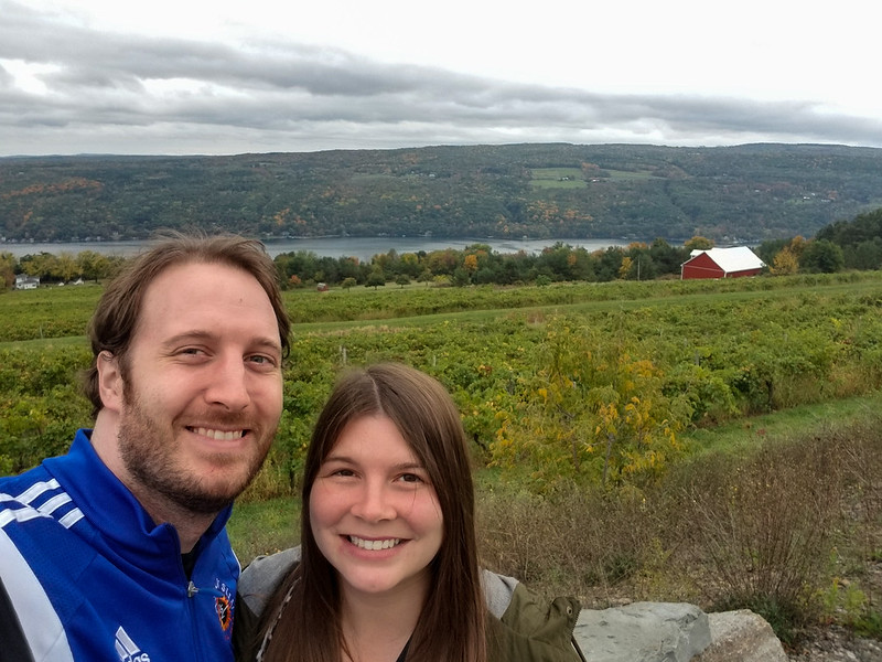Amanda and Elliot in the Finger Lakes