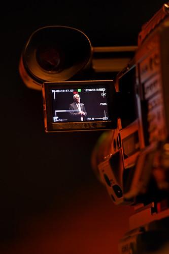 University Communications camera captures Chancellor Randy Woodson's annual fall address.