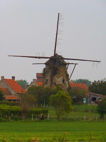 Vieux moulin à Pollinkhove