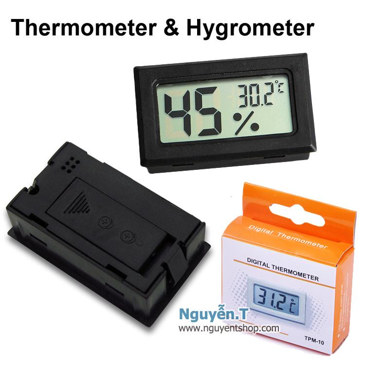 Ẩm kế điện tử nhỏ cho tủ hộp chống ẩm - Mini Hygrometer Thermometer