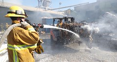 Fire Erupts at Paper Recycling Firm in L.A.'s Industrial Eastside