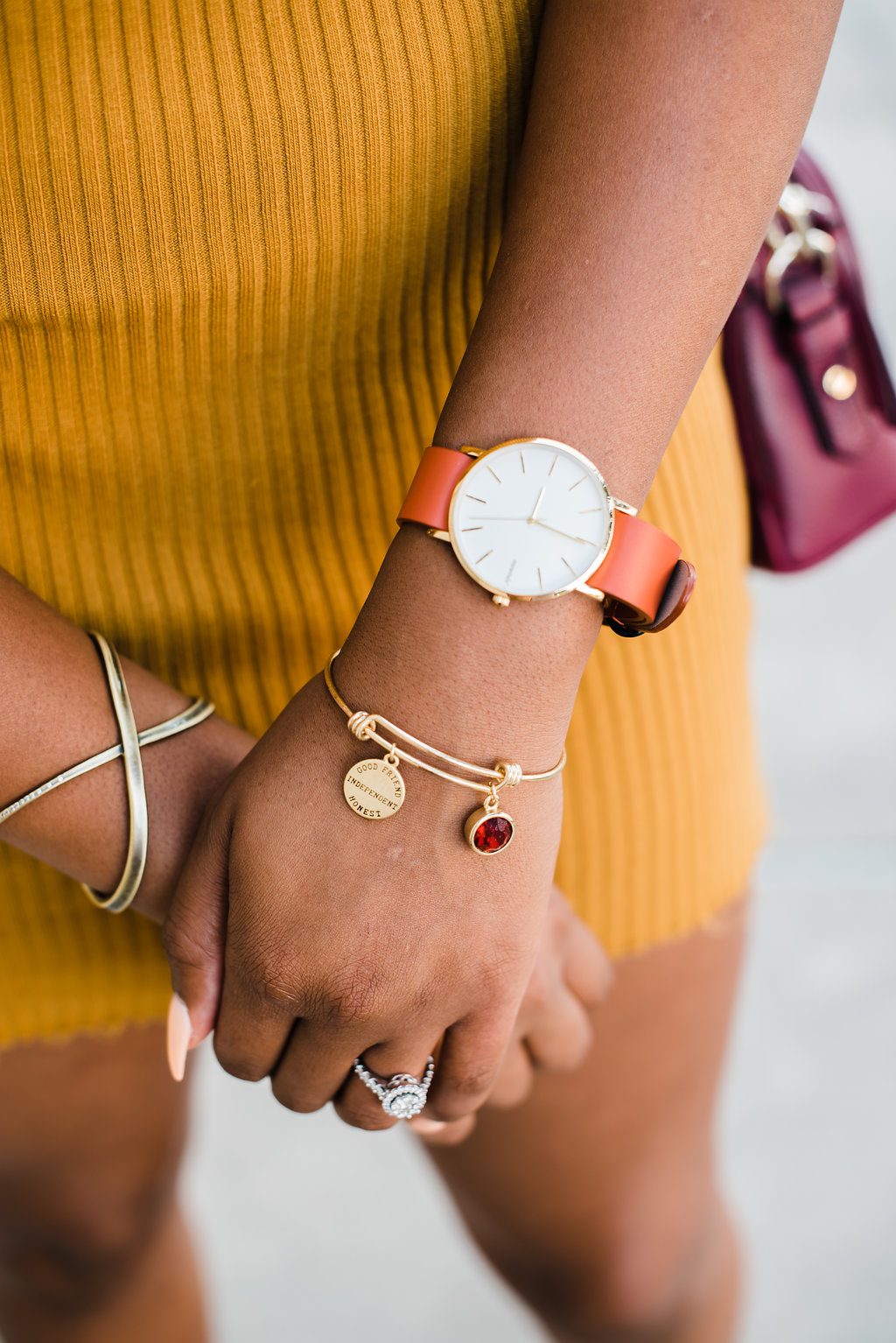 mnmlst watch, mimmic bracelet
