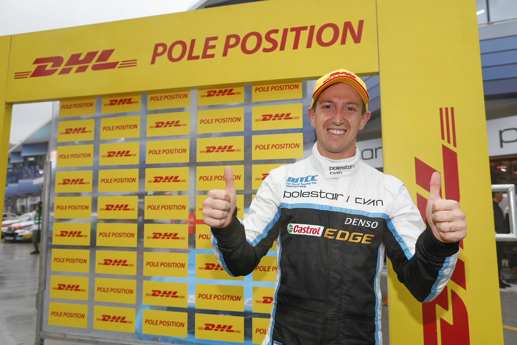 pole position GIROLAMI Nestor (arg) Volvo S60 Polestar team Polestar Cyan Racing ambiance portrait   during the 2017 FIA WTCC World Touring Car Championship at Ningbo, China, October 13 to 15 - Photo Frederic Le Floc'h / DPPI