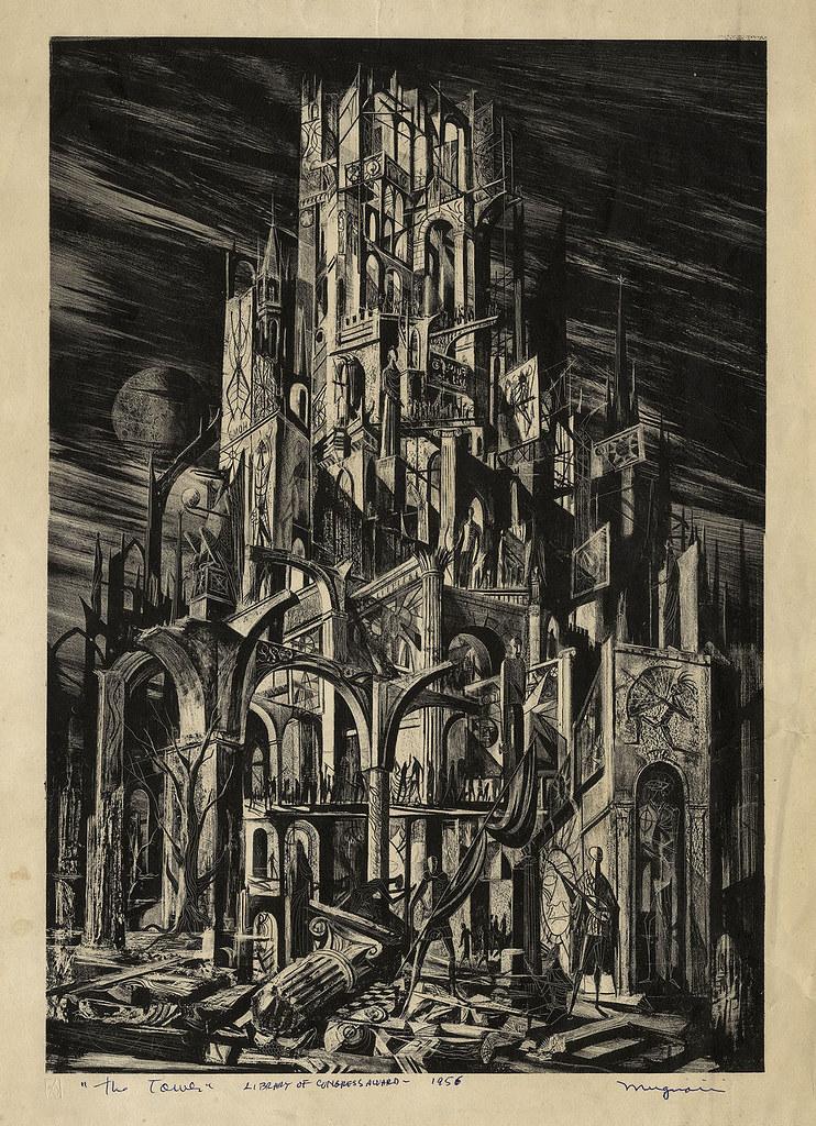 Joseph Mugnaini - The Tower,  1956