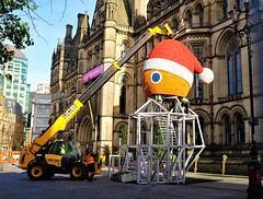 assembling the town hall santa