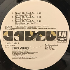 HERB ALPERT:NORTH ON SOUTH ST.(LABEL SIDE-B)