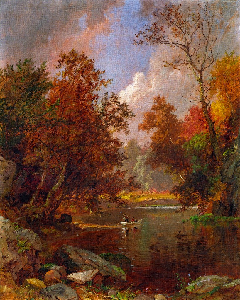 Autumn on the River by Jasper Francis Cropsey, 1877