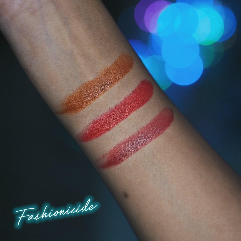 illamasqua lava lips lipstick swatches