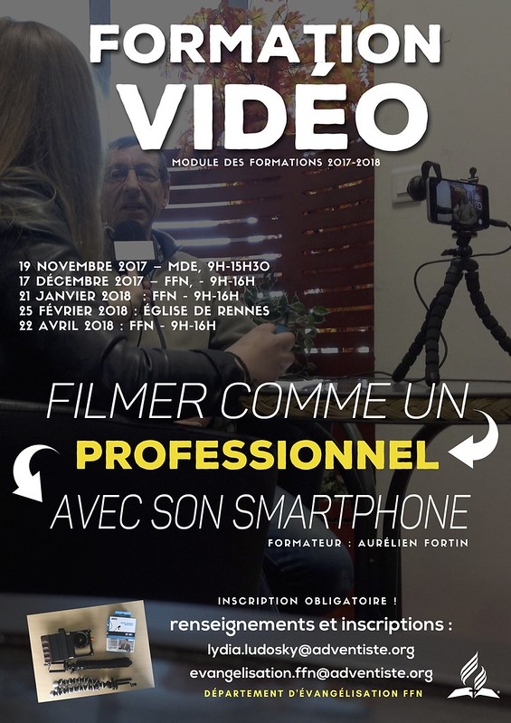 Affiche formation video Ahren Prod