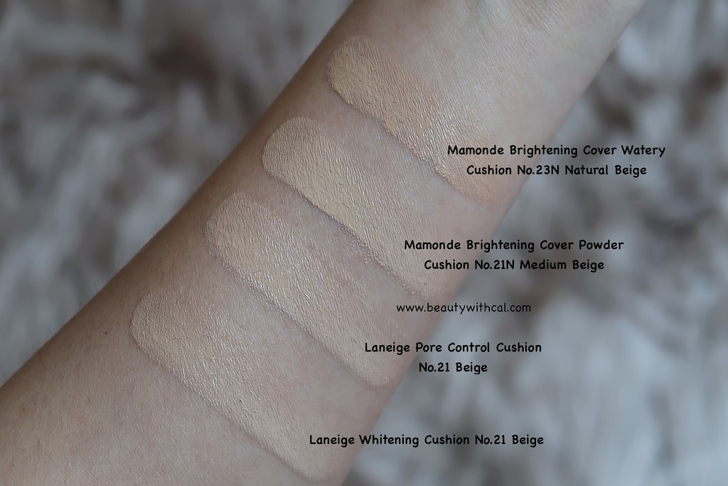 Swatches Mamonde Brightening Cover Cushions