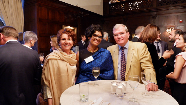 Ambassador Kurt Jaeger and Mrs. Laurette Jaeger of Liechtenstein, ISH-DC Resident Scholar Meghna Saha from India