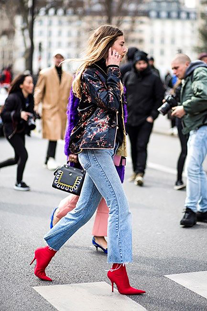 red ankle boots autumn outfits street style trend style outfit 2017 accessories denim4