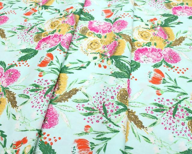 Art Gallery Fabrics Wild Bloom Summer Bouquet Clear