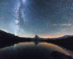 Milkyway and the Matterhorn on the same picture   Patrick A. Güller