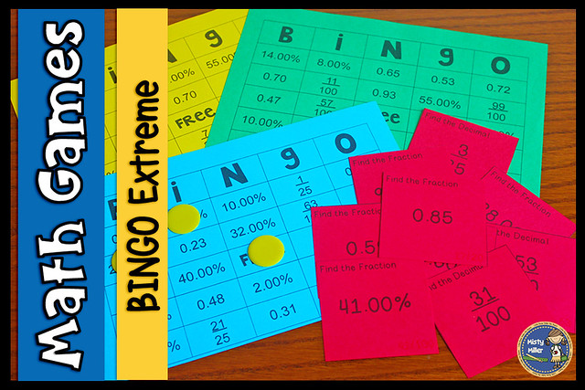 Moving in Math with Bingo Exteme; math game