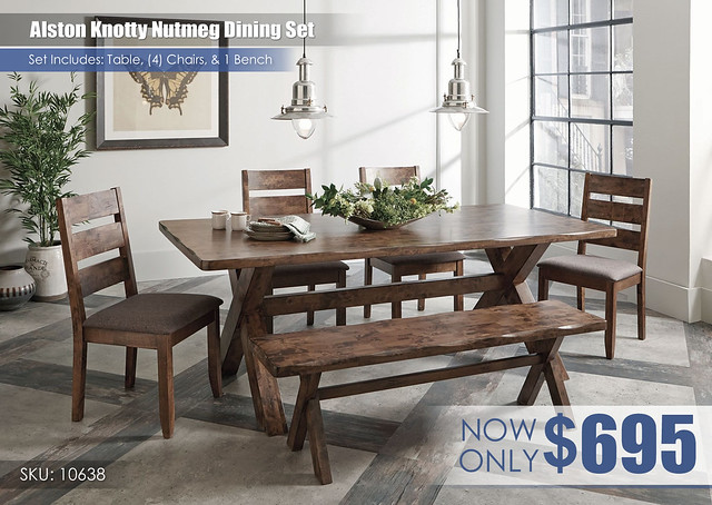 Alston Knotty Nutmeg Dining Set