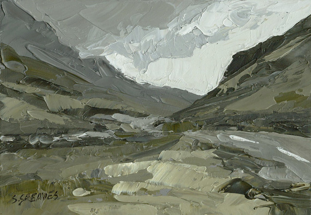 Snowdonia at Llanberis Pass - Original Painting by Steve Greaves